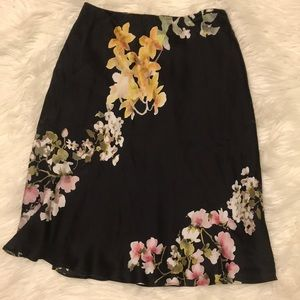 Brooks brothers floral silk skirt